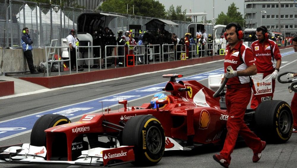 Alonso en el GP de Canadá