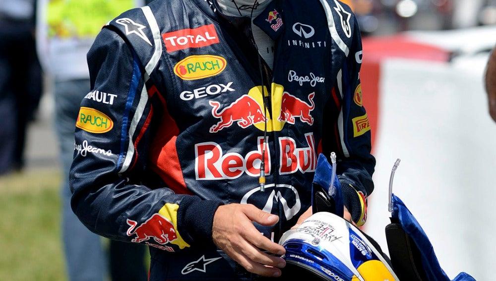 Vettel al terminar la clasificación