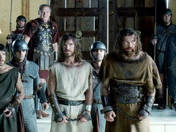 Paulo, Darío y Sandro ante el Senado de Roma