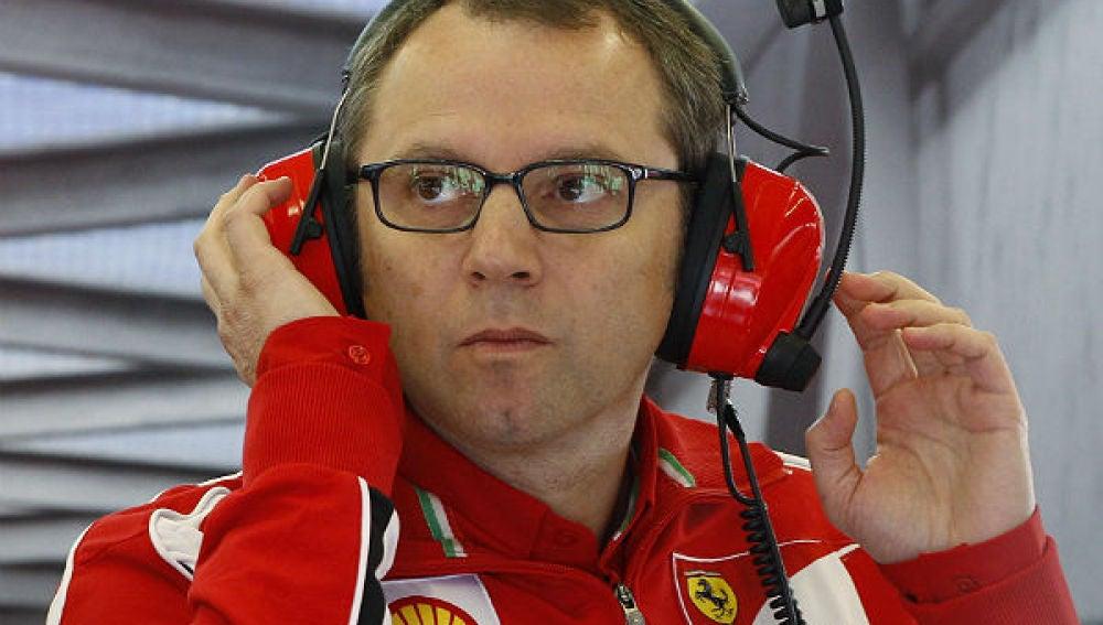 Stefano Domenicali, jefe del equipo Ferrari
