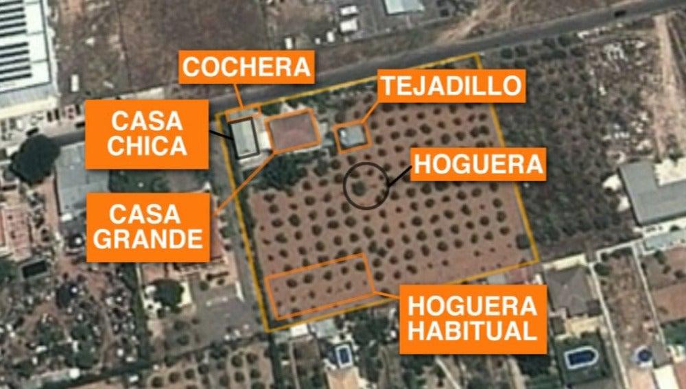 Mapa de Las Quemadillas