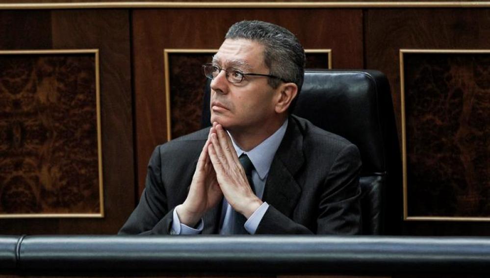El ministro de Justicia, Alberto Ruiz-Gallardón, en el Congreso
