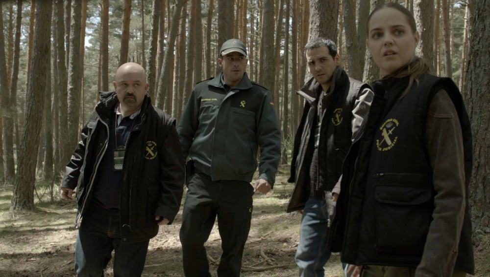 Sonia, Nacho y Basilio en el bosque
