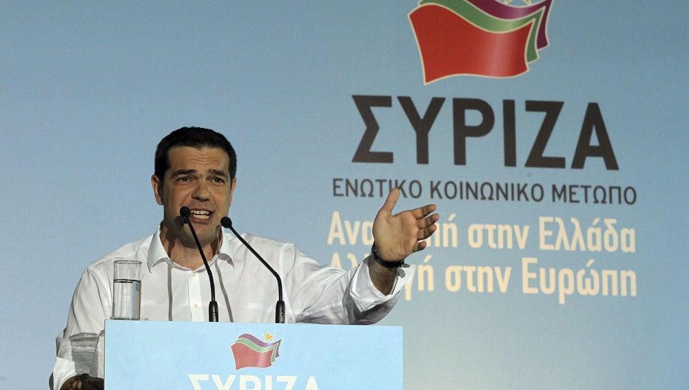 El líder de Syriza, Alexis Tsipras