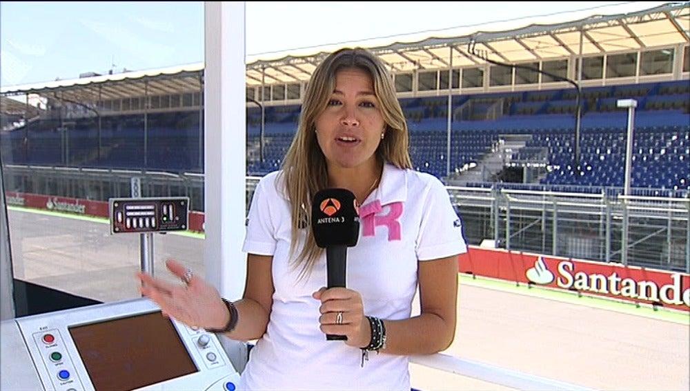 Nira Juanco en el previo de Valencia