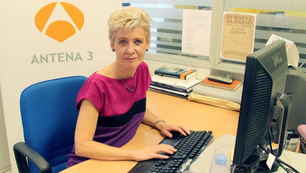 La doctora en optometría Marisol García durante su encuentro digital