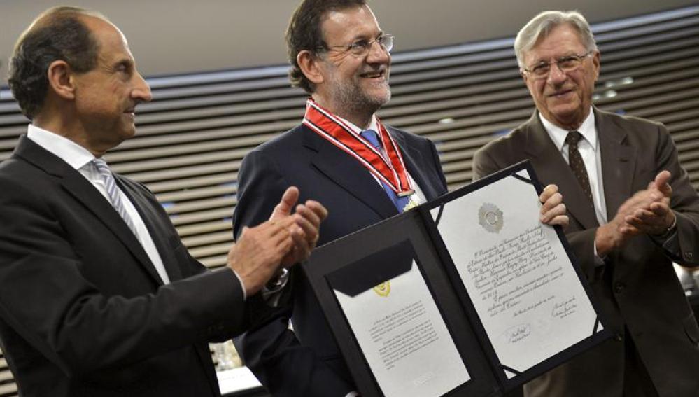 Rajoy en el Palacio de la Moncloa