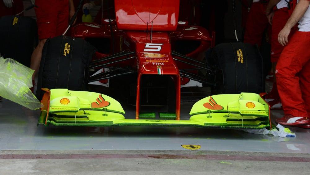 El nuevo alerón del F2012