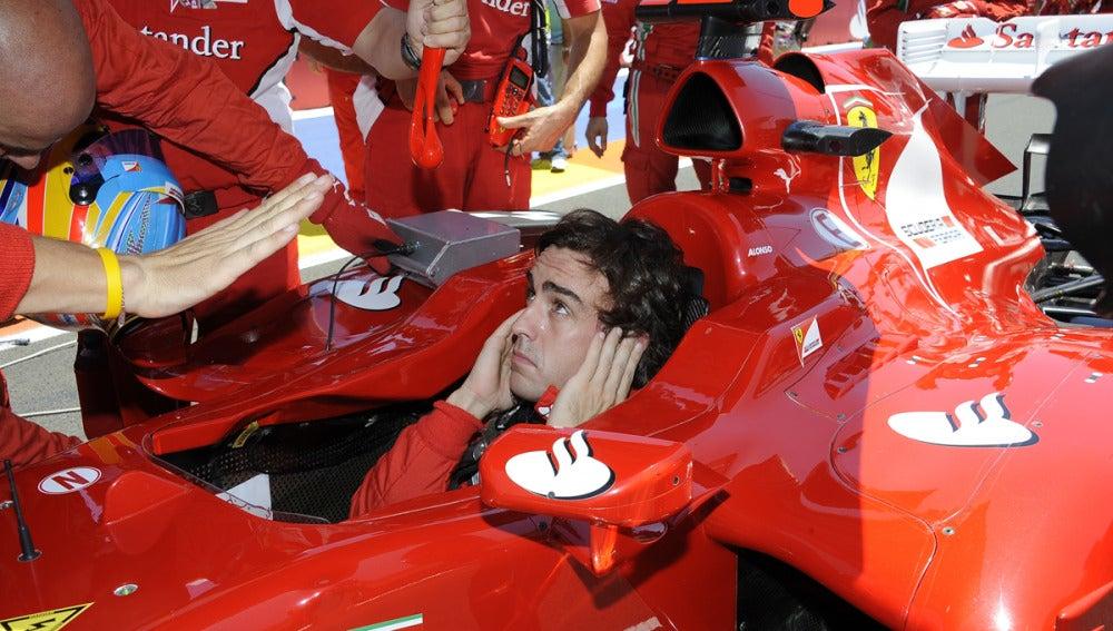 Alonso antes de la salida