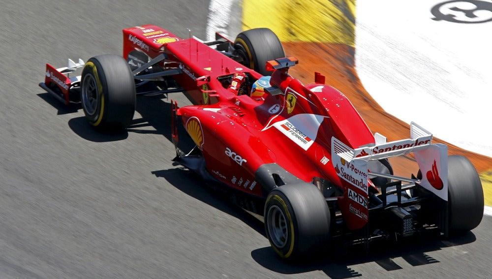 Alonso durante el GP de Europa