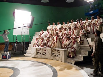 Así se grabó la secuencia del senado romano