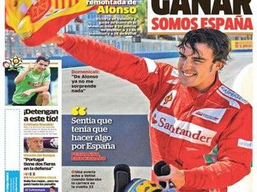 'Ganar, ganar y ganar', en Marca