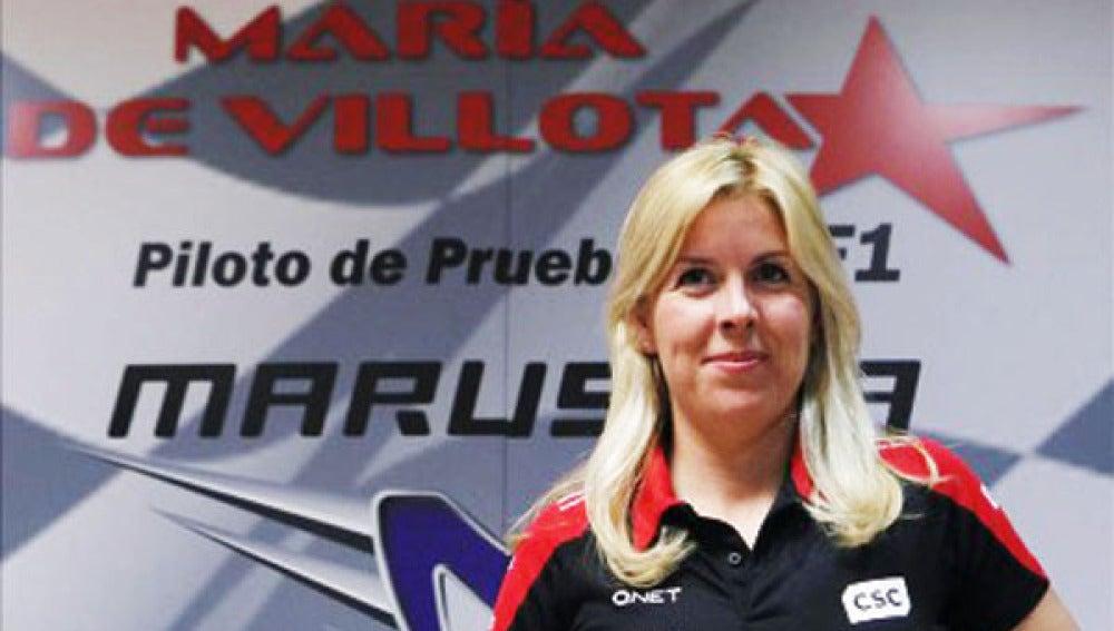 María de Villota, piloto probadora de Marussia.