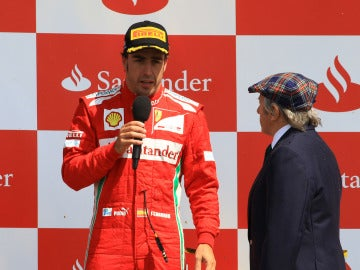 Alonso, junto a Jackie Stewart