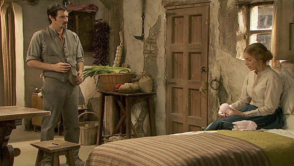 Adolfina tienta a Alfonso