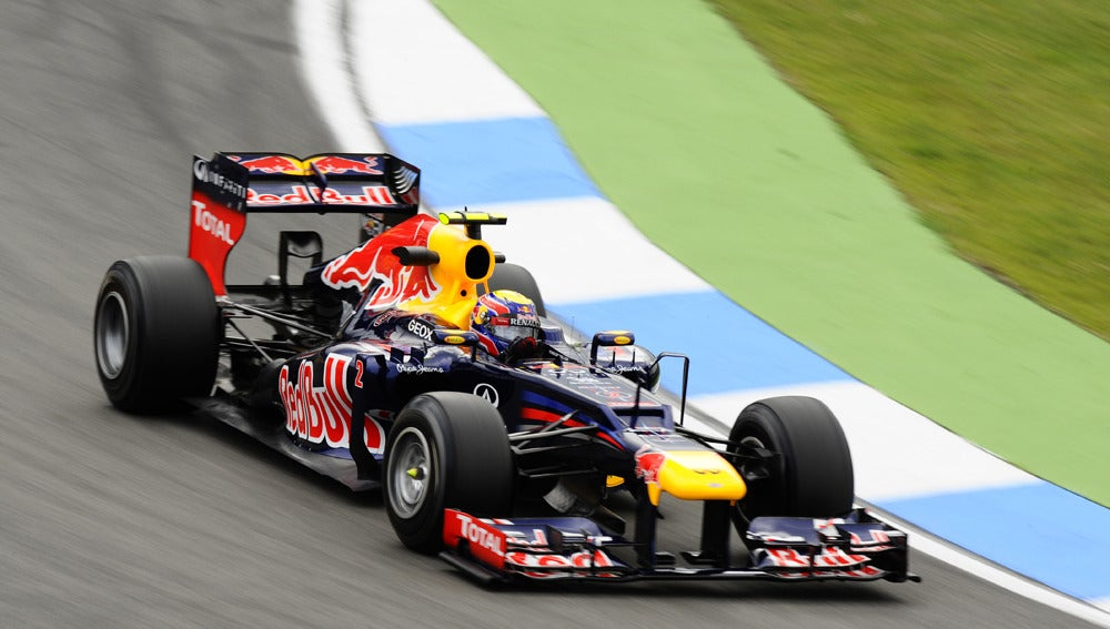 Mark Webber rodando en Hockenheim