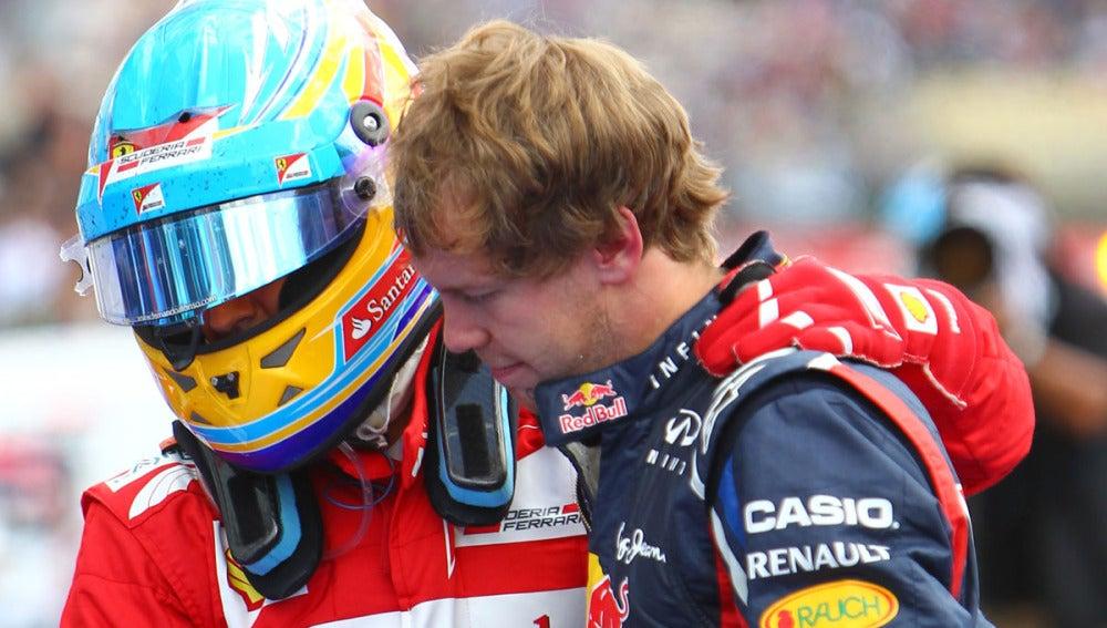 Alonso, junto a Vettel en Alemania