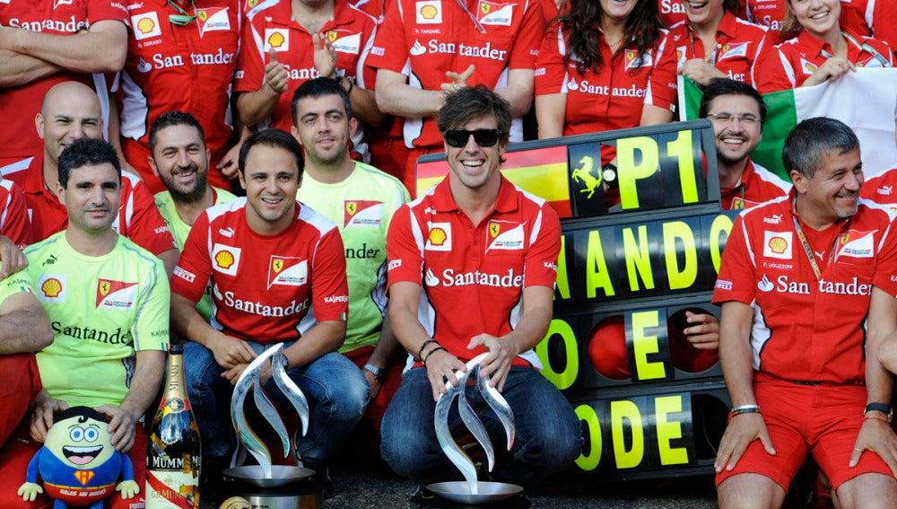 Ferrari celebra la victoria