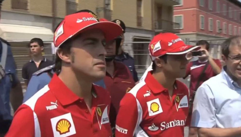 Fernando Alonso y Felipe Massa