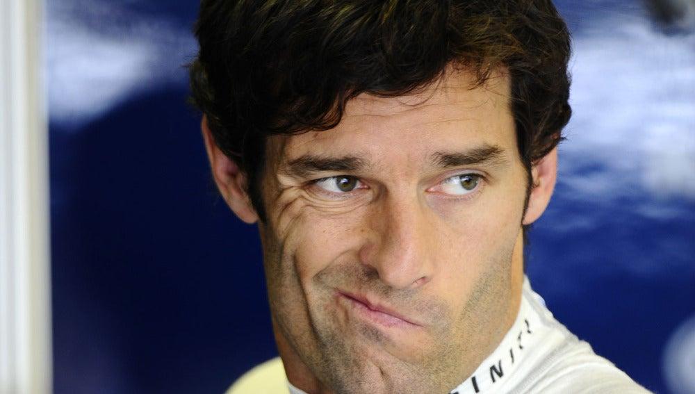 Mark Webber en Hungría