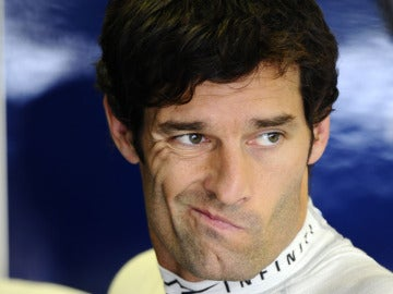 Mark Webber en Hungría