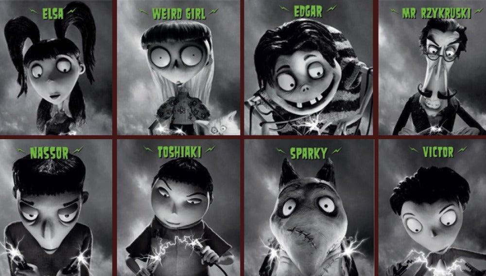 Los personajes de 'Frankenweenie'