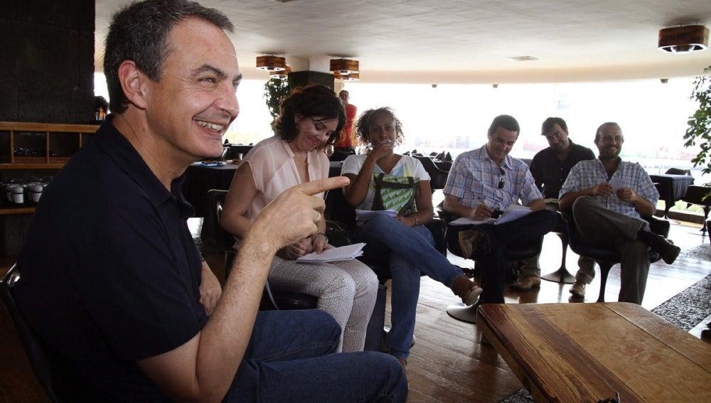 José Luis Rodríguez Zapatero durante la rueda de prensa