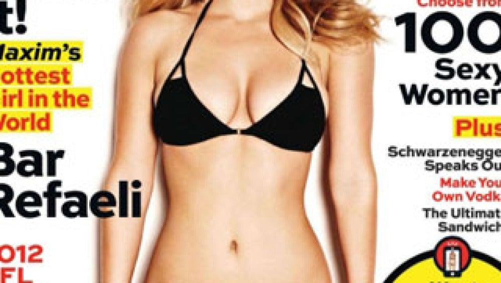 No es la primera vez que Bar posa como portada para Maxim