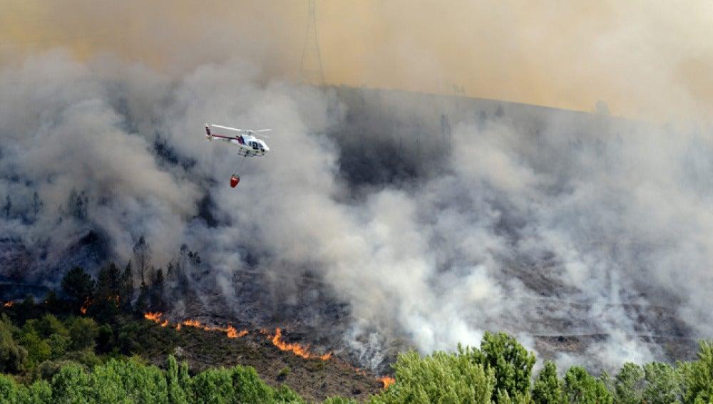 Incendio de O Barco, en Galicia