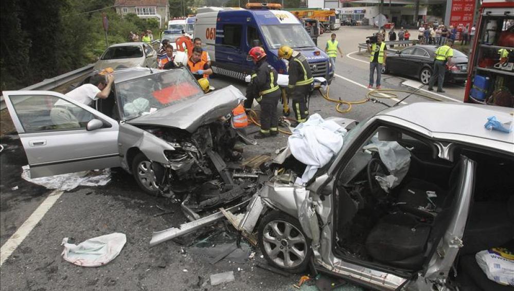 Accidente de tráfico en Vilaboa (Pontevedra)