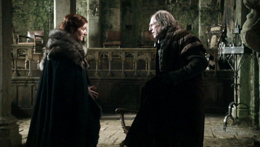 Catelyn Stark hace un trato con Walder Frey