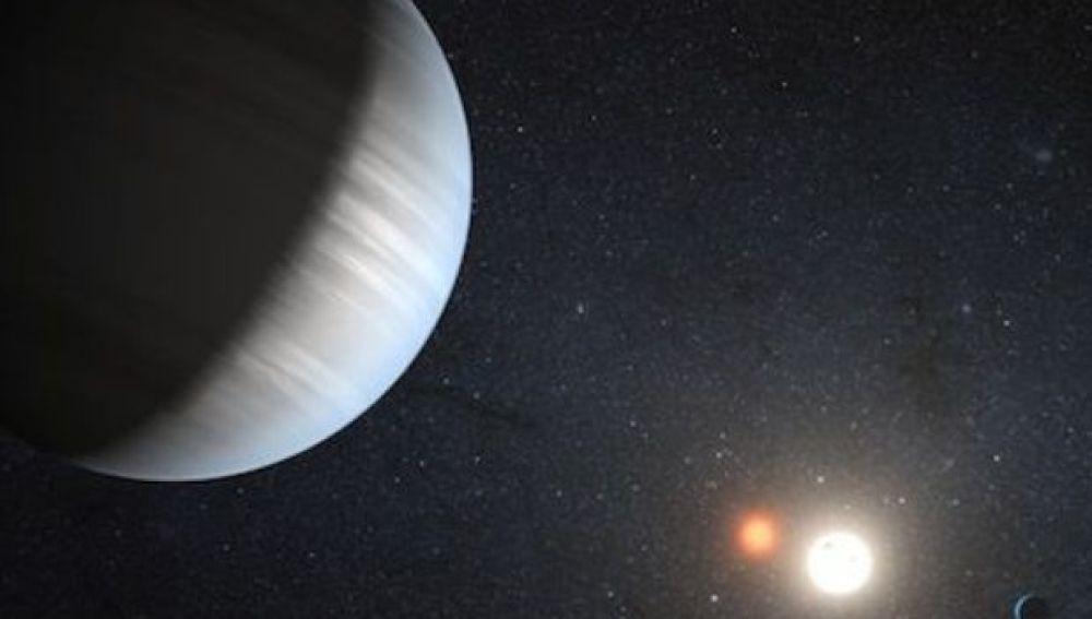 Sistema de dos planetas en torno a dos soles