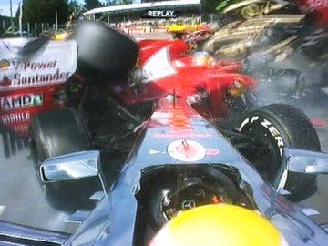 Accidente de Alonso en Spa.