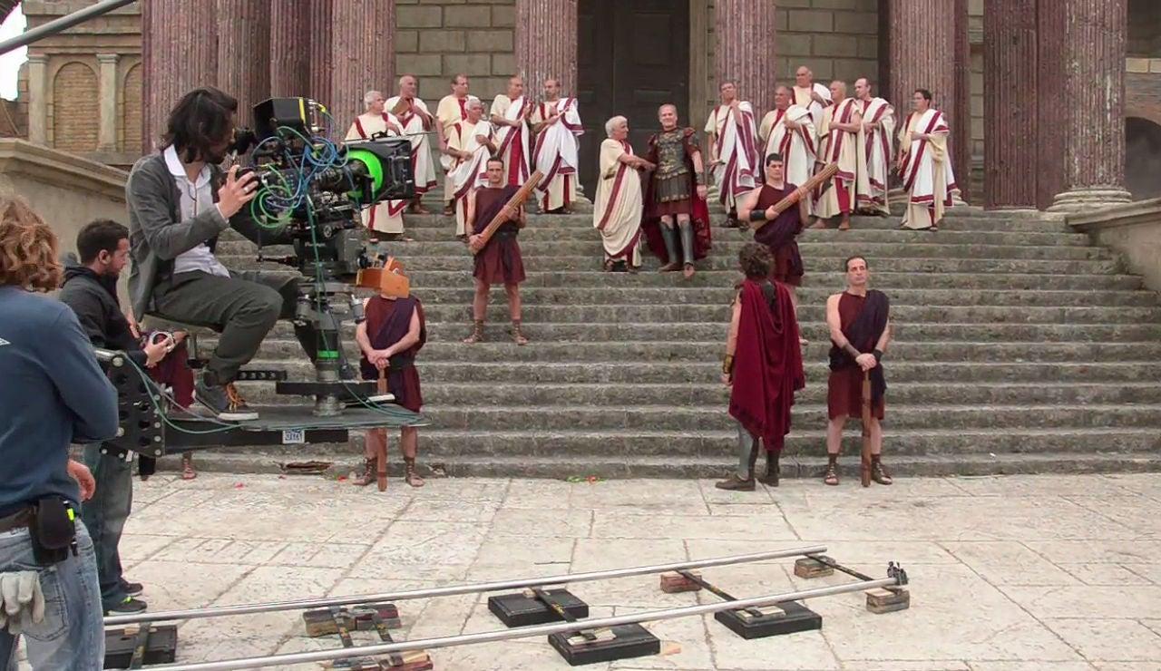 Un rodaje en Roma