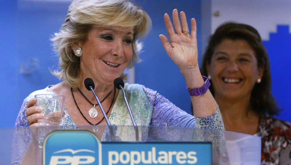 Esperanza Aguirre durante su intervención