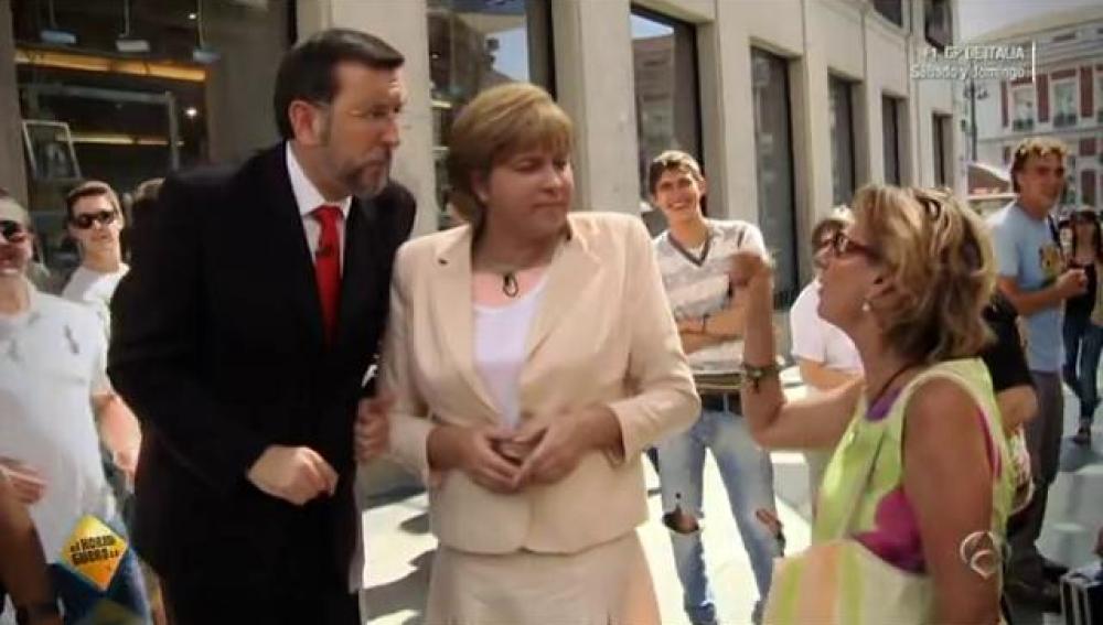 Merkel y Rajoy en 'El Hormiguero 3.0'