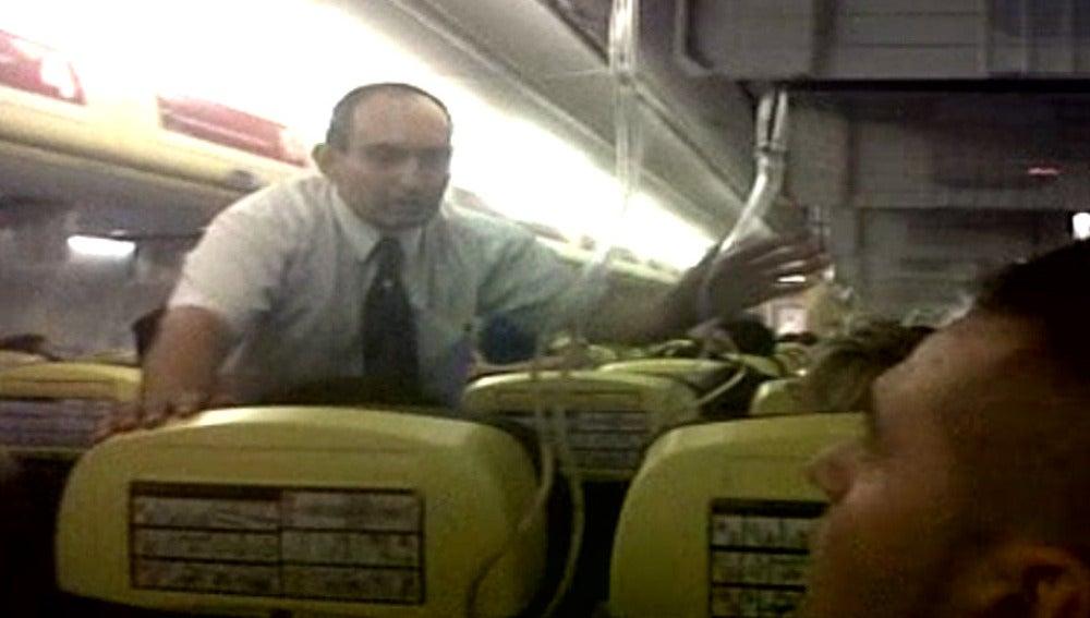 Grabación de lo ocurrido en el vuelo de Ryanair