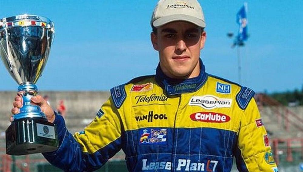 Alonso en la F3000 en el año 2000
