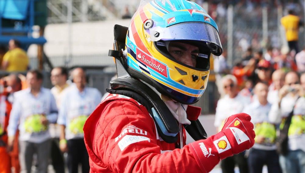Alonso, con gesto de rabia