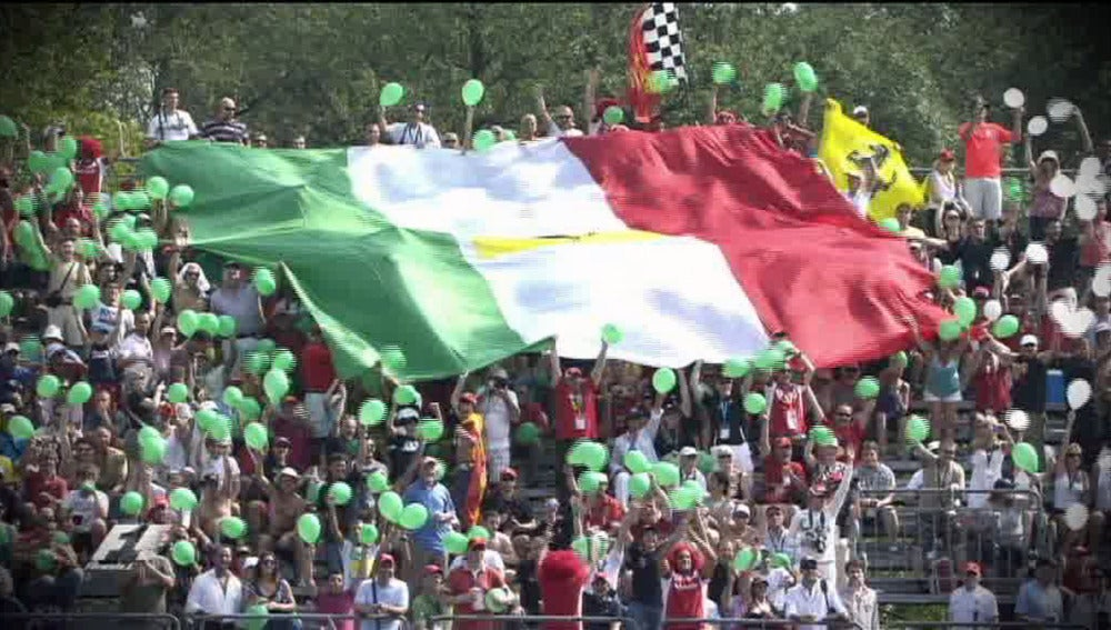 La bandera italiana en la F1