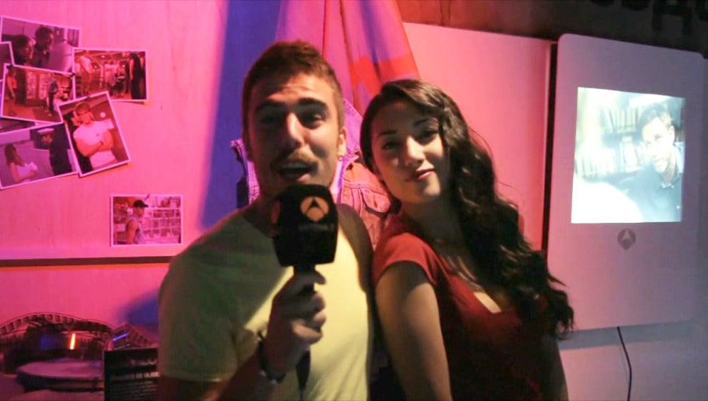 Javier Hernández y Giselle Calderón