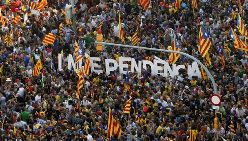 Marcha independentista en Barcelona
