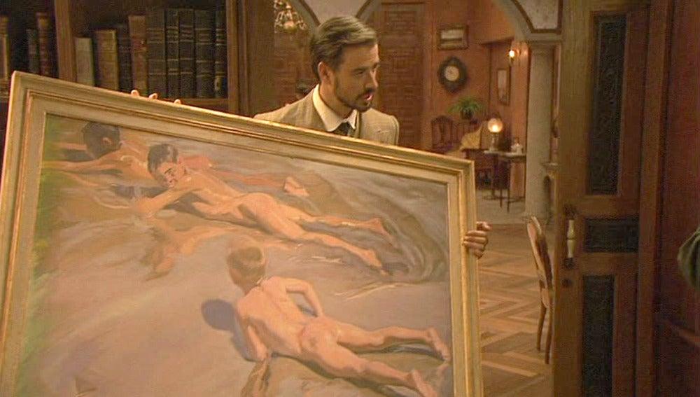 Francisca sugiere que Roque repare el cuadro