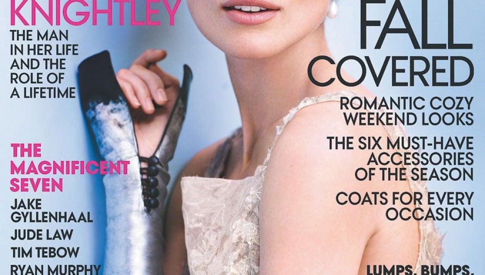 Keira es la nueva portada de Octubre para la revista Vogue
