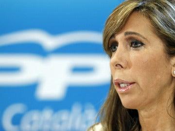 Sánchez Camacho, en la sede del PP catalán