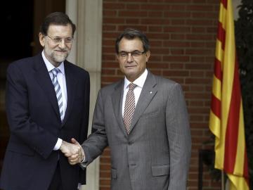 Mariano Rajoy y Artur Mas en la Moncloa