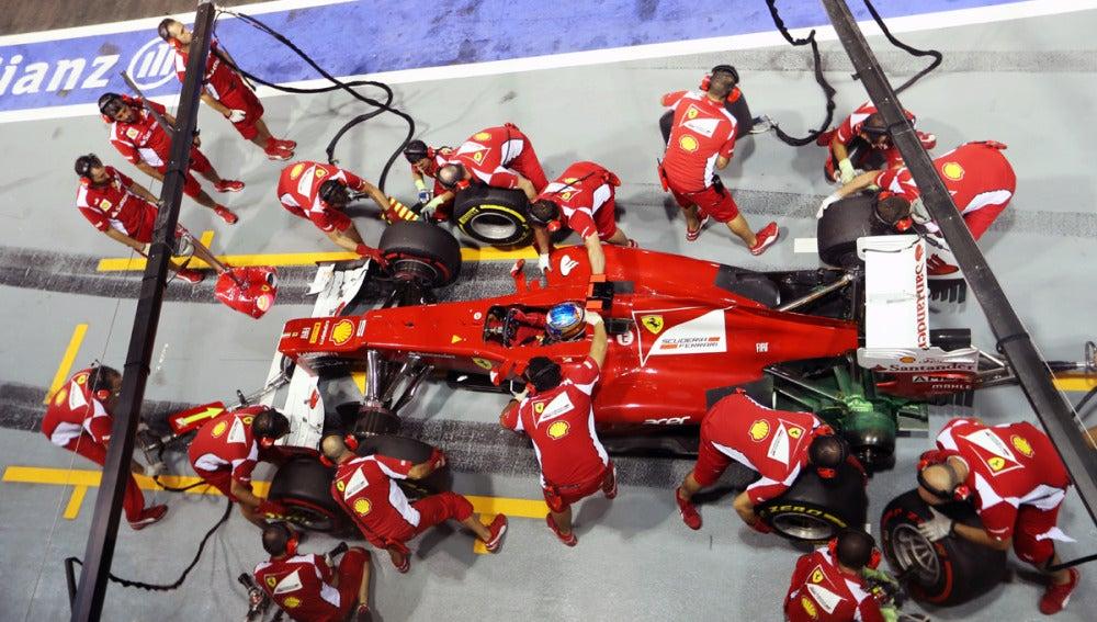 Pit stop de Ferrari