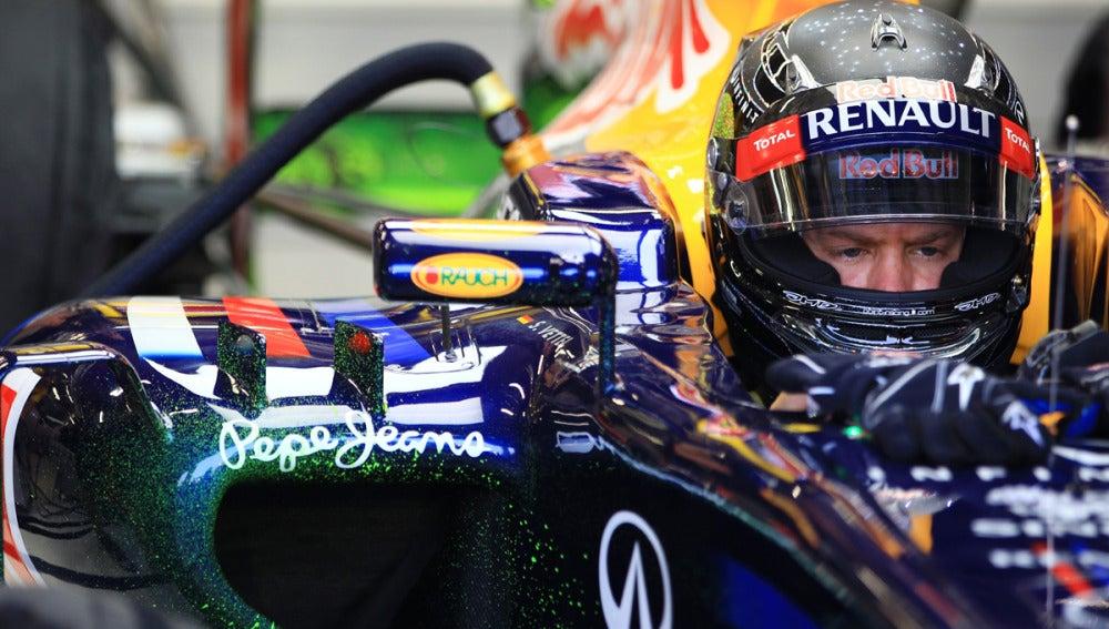 Vettel, en una sesión de clasificación