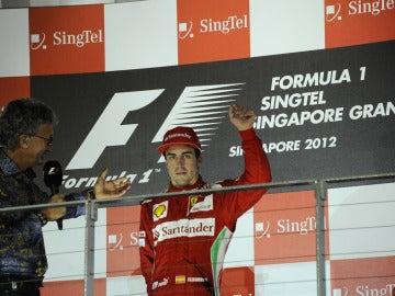 Alonso, con Eddie Jordan