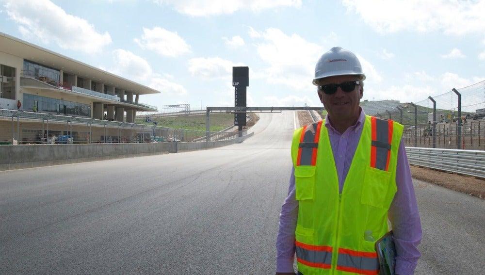 Charlie Whiting, en el Circuito de Texas